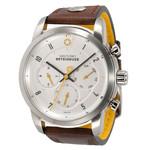 DayeTurner BETEIGEUZE Zegarek analogowy męski, srebrny, pasek skórzany ciemnobrązowy