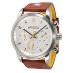 DayeTurner BETEIGEUZE Zegarek analogowy męski, srebrny, pasek skórzany jasnobrązowy