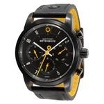 DayeTurner BETELGEUZE black men's analogue watch, black leather strap