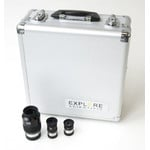 Explore Scientific 70° eyepiece set in case: 10mm, 20mm, 35mm
