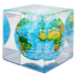Magic Floater Floating globe Schwebeglobus im Kubus