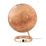 Räthgloben 1917 Globe Red Planet