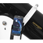 El smartphone se coloca en el soporte abatible para tener la pantalla siempre a la vista (el volumen de suministro no incluye el smartphone, la aplicación ni el tubo).