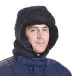ColdTex Gorra de piel de protección contra el frío con orejeras, talla L