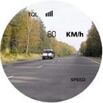 Einblendung in km/h oder mph.