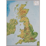 Carte géographique Georelief Großbritannien groß, 3D Reliefkarte
