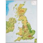 Georelief Landkarte Großbritannien groß, 3D Reliefkarte