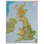 Carte géographique Georelief Great Britain 3D relief map with aluminium frame