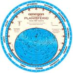 Omegon Carta de estrelas Planisfério 25cm / 40°
