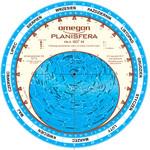 Omegon Obrotowa mapa nieba 25cm