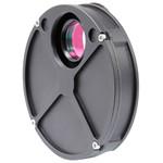 Das kleine und leichte Filterrad - auch für kleinere Teleskope - mit eingeschraubten Filter