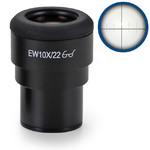 Euromex Eyepiece IS.6210-CM, WF 10x / 22,10/100 microm., crosshair, Ø 30mm (iScope)