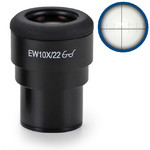 Euromex Okular IS.6210-CM, WF 10x / 22,10/100 microm., crosshair, Ø 30mm (iScope)