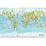Stellanova Mapas infantiles Mapa mundial para niños, con lista de animales