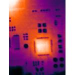 Prüfen Sie elektronische Bauteile auf Überhitzung.