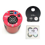 "Caméra ZWO ASI 1600 MMC Cool Mono V3 + EFWmini + LRGB 1,25"" Set"