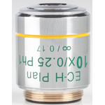Motic Objective 10X / 0.25,wd 17.4mm, CCIS, EC-H PLPH, e-plan, pos.phase, infinity (BA410E, BA310)