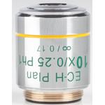 Motic objetivo 10X / 0.25,wd 17.4mm, CCIS, EC-H PLPH, e-plan, pos.phase, infinity (BA410E, BA310)