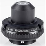 Motic Condenseur, O.N. 0.65, wd 10,8mm, LWD, achromatique, diaphragme à iris (BA410E, BA310)