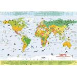 Terra by Columbus Terra Mapa mundial infantil