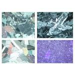 LIEDER Rocks and Minerals, Ground Thin, Basic Set no. I , 10 Microscope Slides size 30x45 mm, wo box