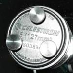 Bobs Knobs Rändelschrauben für Sekundärspiegel von Celestron C5 f/10 mit metrischen Gewinde