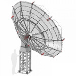 Radio2space Radio télescope Spider 500A Advanced avec monture AZ GoTo résistant aux intempéries
