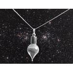 Jurassic Jewellery Cadena de polvo de meteorito de (forma de gota)
