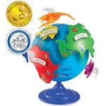 Learning Resources Globo terráqueo puzzle de 20cm