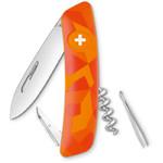 SWIZA C01 Swiss Army Knife, LUCEO Camo Urban Orange