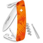 SWIZA Noże Szwajcarski scyzoryk kieszonkowy C03 FILIX paproć maskująca pomarańczowy