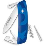 SWIZA Messen Zwitsers zakmes C03, LIVOR Camo Urban blauw