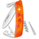 SWIZA C03 Swiss Army Knife, LIVOR Camo Urban Orange