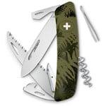 SWIZA C05 Swiss Army Knife, SILVA Camo Fern khaki