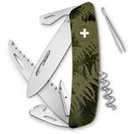 SWIZA Noże Szwajcarski scyzoryk kieszonkowy C05 SILVA paproć maskująca khaki