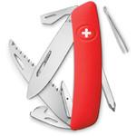 SWIZA Noże Szwajcarski scyzoryk kieszonkowy D06 czerwony