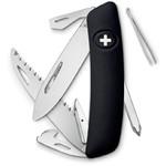 SWIZA Noże Szwajcarski scyzoryk kieszonkowy D06 czarny