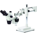 Euromex Zoom-Stereomikroskop NZ.1703-B, NexiusZoom EVO, 6.5x to 55x, double-arm boom stand, w.o. illumination, trino