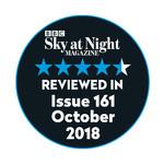 La monture Omegon Mini Track LX2 a obtenu 4,5 étoiles sur 5 dans le numéro 161 du magazine Sky at Night !