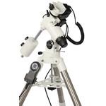 EQ-500 X Drive współpracuje z teleskopami o aperturze do 200 mm, a mimo to wciąż jest mobilny. Dla wszystkich tych, którzy chcieliby sięgnąć głęboko w kosmos, prowadząc obserwacje wizualne czy wykonując fotografie.