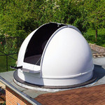 Pulsar Kopuła obserwatorium astronomicznego 2,7 m z obręczą