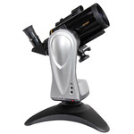 La montatura da tavolo Merlin con la piccola ottica Maksutov. Un telescopio compatto, subito pronto per suggestive osservazioni.