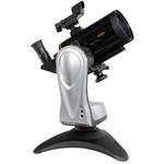 Die Merlin Tischmontierung mit der kleinen Maksutov-Optik. So ein kompaktes Teleskop ist schnell bereit für stimmungsvolle Beobachtungen.