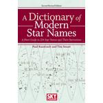 Sky Publishing Carte A Dictionary of Modern Star Names