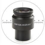 Euromex 10x/25 mm SWF, oculare micrometrico, mirino, Ø 30 mm, DX.6010-CM (Delphi-X)