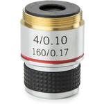 Euromex objetivo 4x/0,10, acro., parafocal, 35 mm, MB.7004 (MicroBlue)