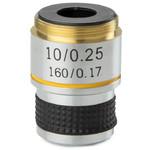 Euromex objetivo 10x/0,25, acro., parafocal, 35 mm, MB.7010 (MicroBlue)