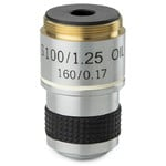 "Euromex 100X/1.25"" achro, sprung, parafocal microscope objective, 35mm, MB.7000 (MicroBlue)"