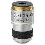 Euromex objetivo 100x/1,25, acro., resorte, parafocal, 35 mm, MB.7000 (MicroBlue)