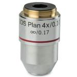 Euromex Objektiv 4x/0.10 plan, infinity, BB.7204 (BioBlue.lab)